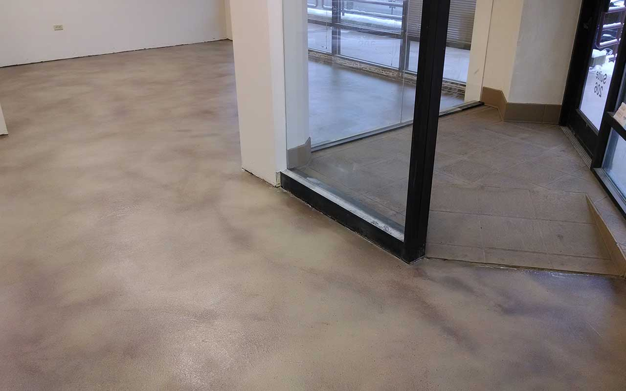 shades of color concrete floor finishes for commercial buildings and business