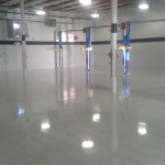 Commercial concrete floor coverings