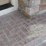 Concrete Overlay Brick Pattern