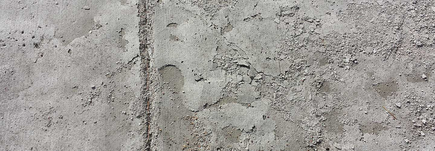 Concrete needing repairs