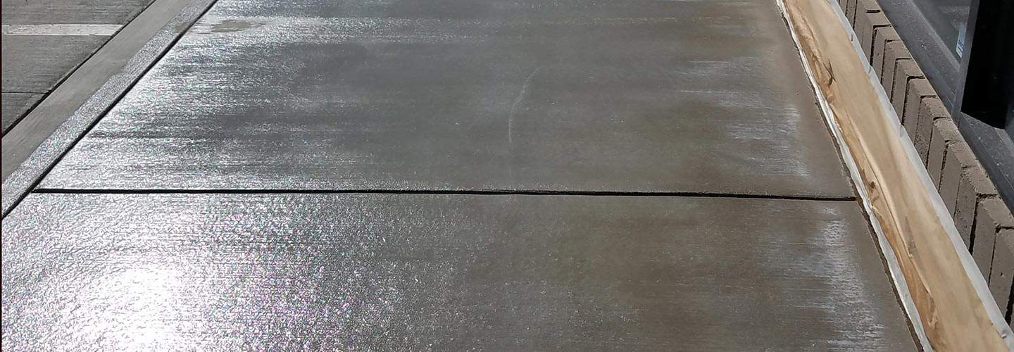 sealed concrete outdoors