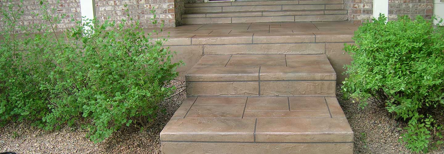 Example of sealed concrete outdoor steps and walkway