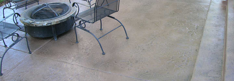 Concrete floor sealers on outdoor patio