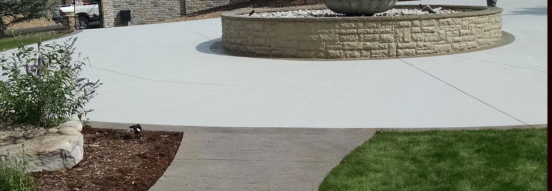 Fix outdoor concrete areas with concrete resurfacing