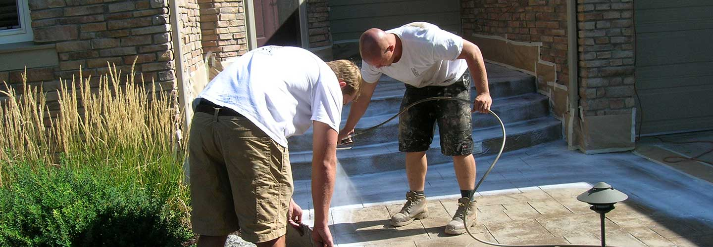 Decorative concrete contractors in Denver