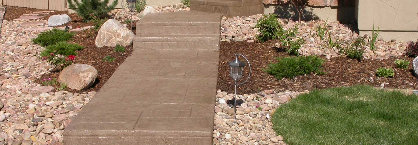 Stamped concrete restoration in Denver
